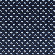 dark blue studded plate - stock illustration