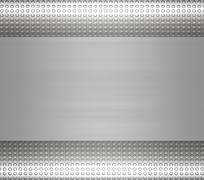 metal steel or aluminium plate - stock illustration
