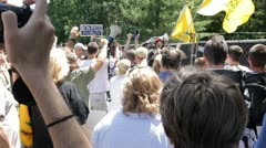 Occupy Bildeberg 5 Stock Footage