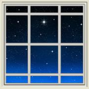 Bright star Stock Illustration