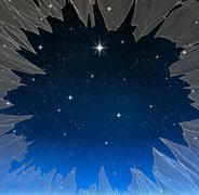 bright star - stock illustration