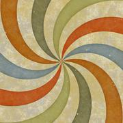 sixties style grungy sunburst swirl - stock photo