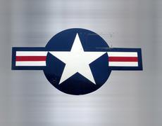 Stock Illustration of star on brushed metal