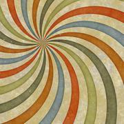 Sixties style grungy sunburst swirl Stock Illustration