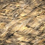 Straw thatch background Stock Photos