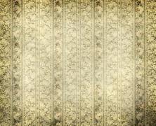 old grunge wallpaper - stock photo