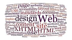 web design word cloud - stock photo