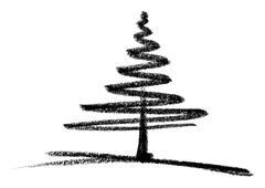 Conifer sketch Stock Illustration