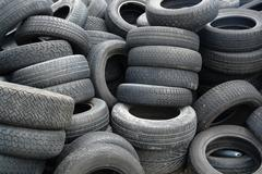 old tires detail - stock photo