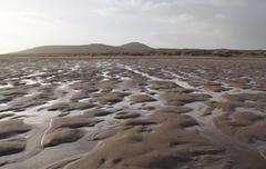 Bumpy ebb tide scenery Stock Photos