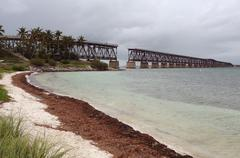 Stock Photo of old bridge at florida keys