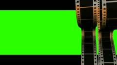 Vertical filmstrips green screen Stock Footage