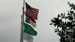 Charlotte, NC Flags in wind Stock Footage