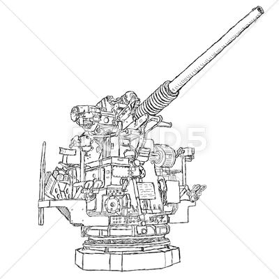 Stock Illustration of vintage gun