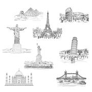 Landmarks Stock Illustration