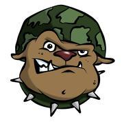 Cartoon army bulldog Stock Illustration