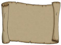 Blank parchment Stock Illustration