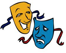 Comedy/Tragedy Masks Stock Illustration