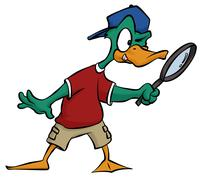 Duck detective Stock Illustration