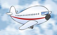 Cartoon passenger jet Stock Illustration