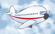 Stock Illustration of cartoon passenger jet