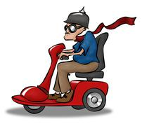 Scootin granpda Stock Illustration