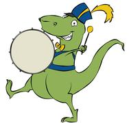 Drumming Dinosaur Stock Illustration