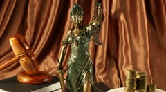 Justice statue, Law Stock Footage