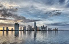 Miami Skyline - stock photo