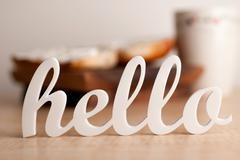 Stock Photo of Hello to Breakfast