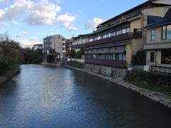 Kyoto River in town Stock Photos