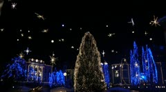 Christmas Lights in Ljubljana Stock Footage