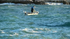 Rough fishing Stock Footage