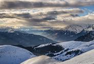 Clouds in the alps Stock Photos