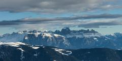 Dolomites with clouds - stock photo