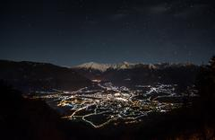 Alpine nightsky Stock Photos