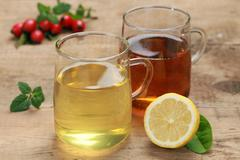 Lemon and rooibos tea Stock Photos