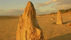 The Pinnacles on a stormy evening with storm clouds Stock Footage