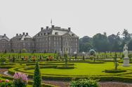 Royal palace het loo with renaissance garden Stock Photos
