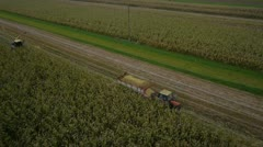 AERIAL: Tractor on a field Stock Footage