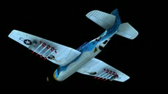 Airplane flying (matte) Stock Footage