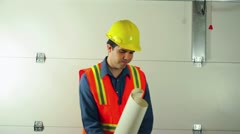 Contractor giving orders foreman Stock Footage