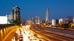 Traffic Time Lapse Stock Footage