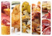 Spanish tapas collage Stock Illustration