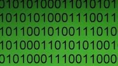 Binary code Stock Footage