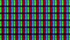 LCD TV pixel extreme macro close-up Stock Footage