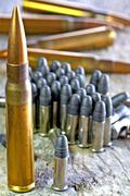 Ammunition 8x57IS and cal.22  Stock Photos