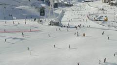 Ski piste Stock Footage