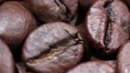 Coffee grains in rotation. Macro Stock Footage