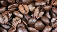 Coffee grains in rotation close up Stock Footage